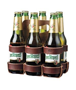 Leather Six-Pack Holder. Good father's day gift.