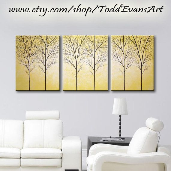 3 Piece Wall Decor Home Decor Large Wall Art ORIGINAL PAINTING ...