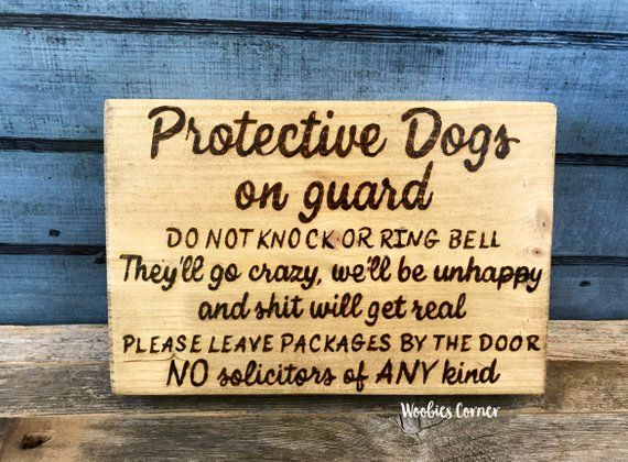 Crazy dog sign, Protective dog sign, No soliciting sign, Funny no soliciting, Do not knock sign, No soliciting dog sign, Dog signs for home #nosolicitingsignfunny