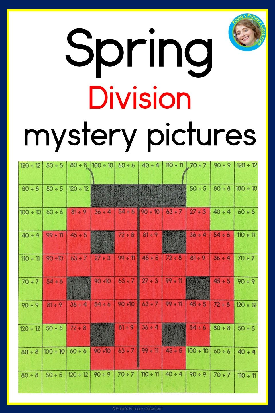 Division Facts Practice Spring Theme Mystery Picture Worksheets For 3rd And 4th Grade No Prep Division Facts Practice Mystery Pictures Math Fact Practice [ 1440 x 960 Pixel ]