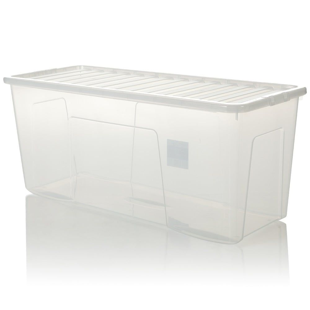 Large 20 Litre Clear Plastic Box Kitchen Dry Food Flour Storage Container Tub Ebay Flour Storage Container Flour Storage Large Food Storage Containers