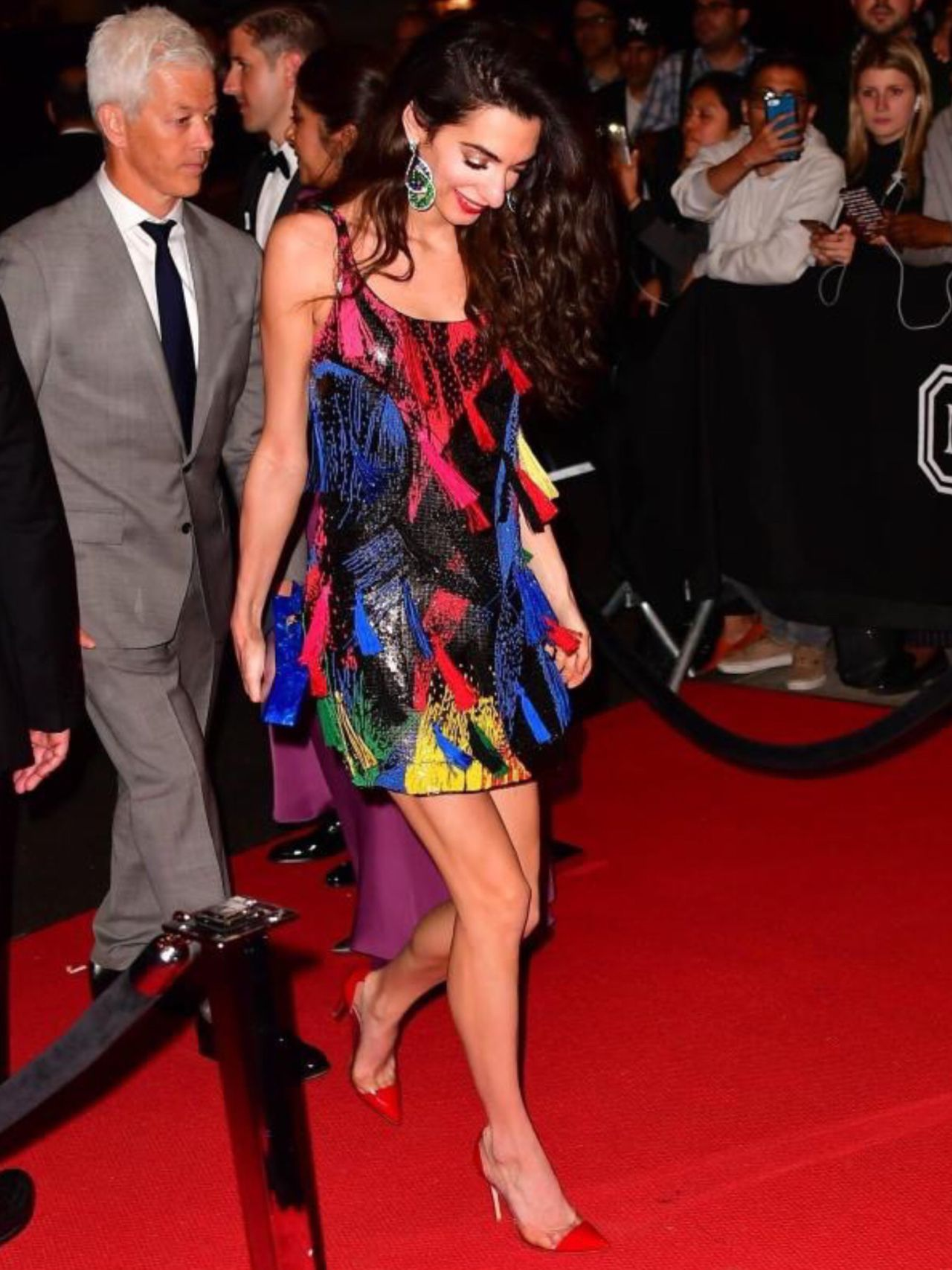 Amal Clooney arriving at Rihanna afterparty MET Gala 07 05