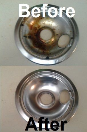 To Clean Dirty Electric Stove Burner Plates 1 Mix Baking Soda With Your Dish Soap Make A Thick Paste 2 Use An Old Toothbrush Sure It Has No