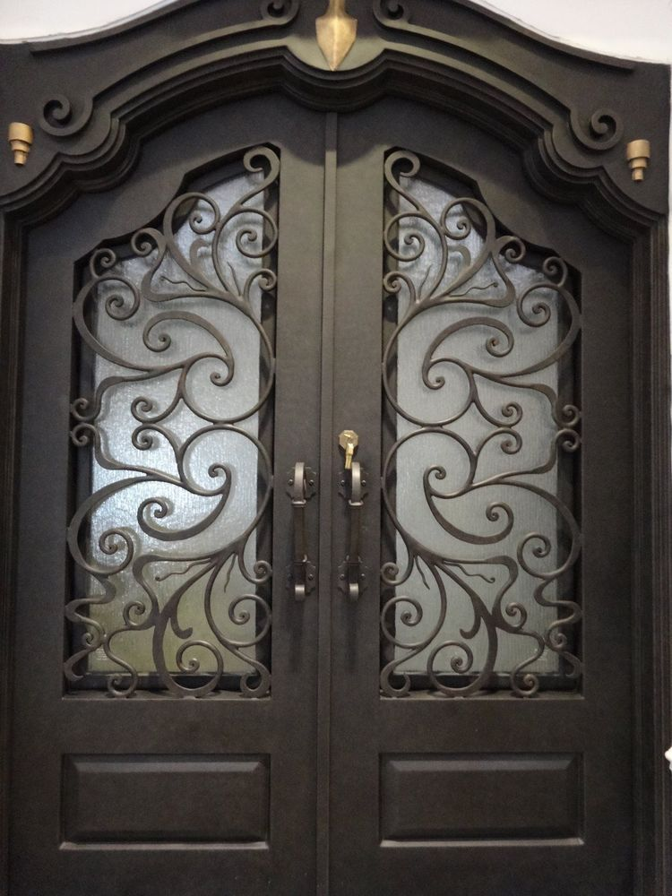 Hand Crafted 12 Gauge Wrought Iron Doors By Monarch Custom Doors 72 X 108 Wrought Iron Doors Iron Doors Wrought Iron