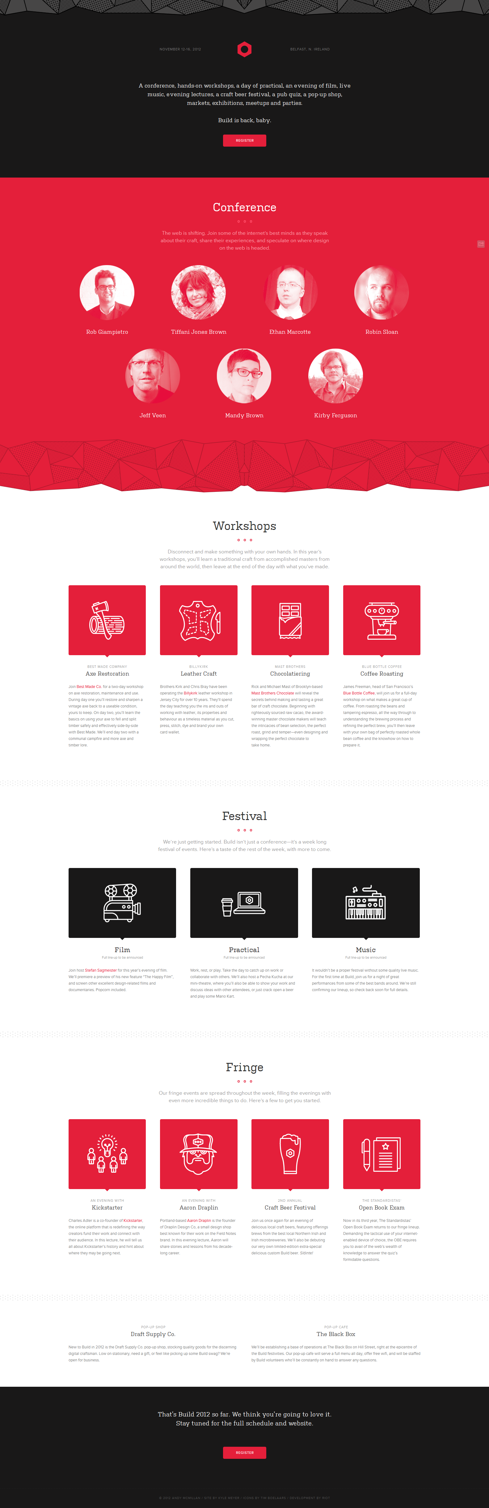 http://2012.buildconf.com/ black, red, white, amazing clean #webdesign
