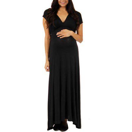 913309f2d22 24 7 Comfort Apparel Women s Faux Wrap Maxi Maternity Dress