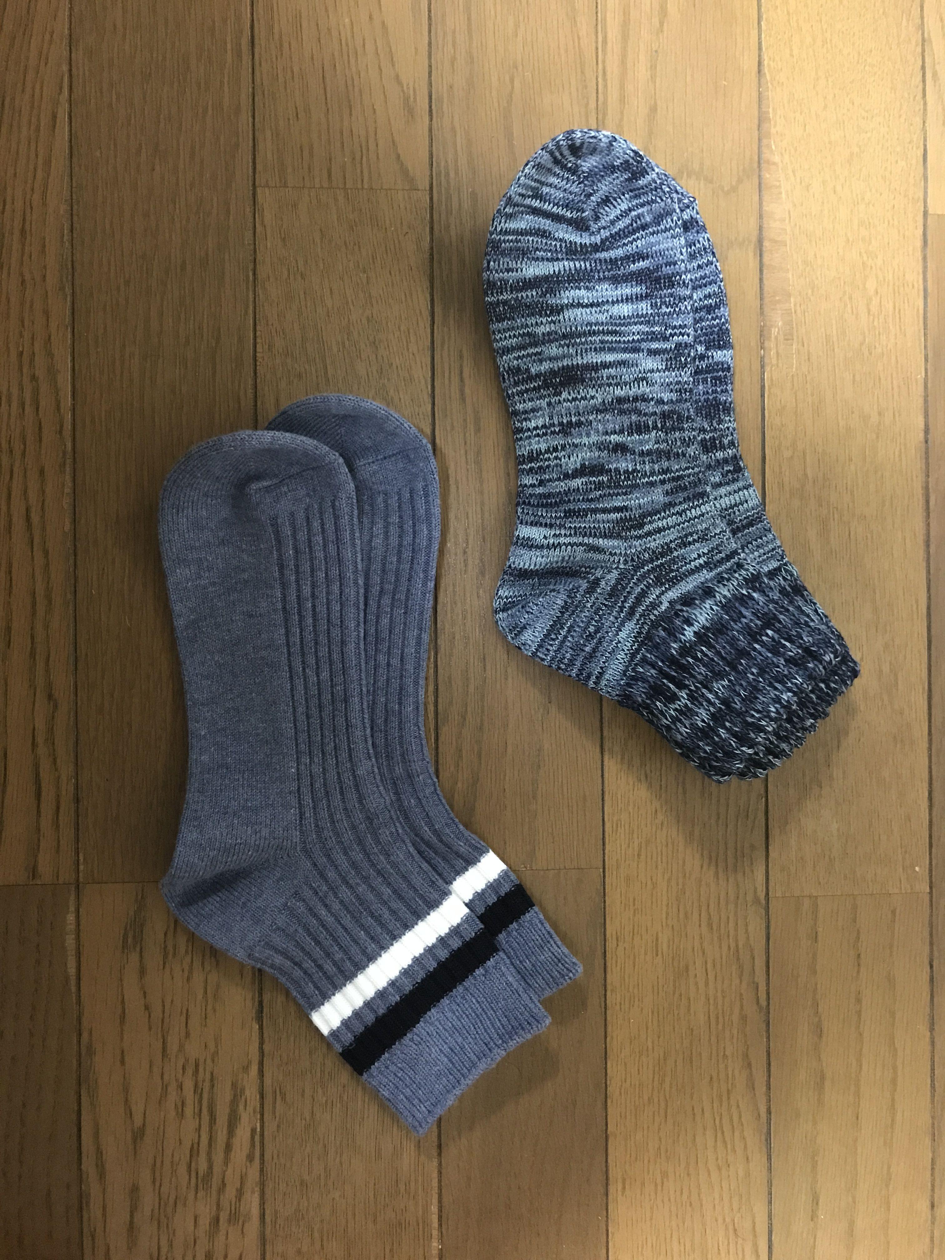 ざっくりリブ足なり直角靴下(婦人・えらべる) チェコのおばあちゃんの手編み靴下をお手本に、直角に編み立てました。足に心地よくフィットします。