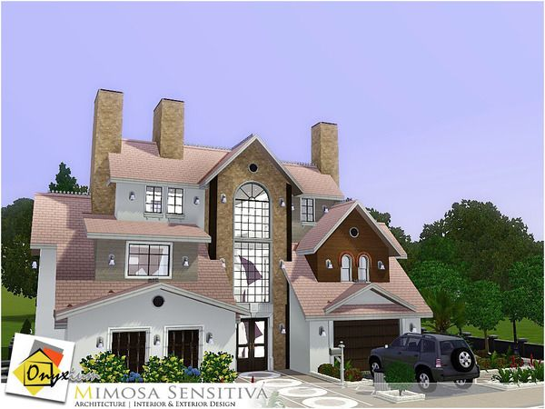 Mimosa Sensitiva villa by Onyxium - Sims 3 Downloads CC Caboodle Check more at http://customcontentcaboodle.com/mimosa-sensitiva-villa-by-onyxium/