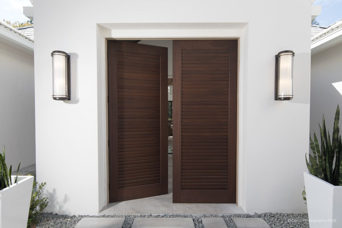 8420 Louver Doors Shown In Sapele Mahogany Door Design Interior Front Door Design Door Design