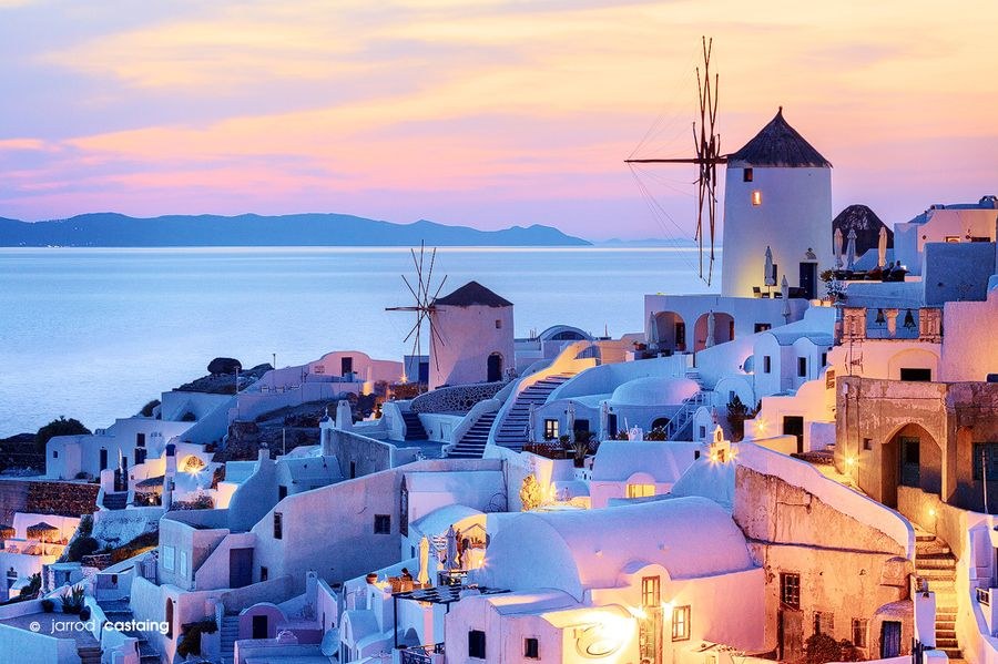 Greece - Cyclades - Santorini - Sunset at Oia #travel #beforeidie #greekislands #wanderlust