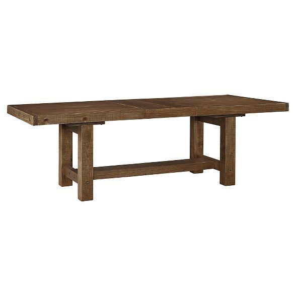 Ashley Furniture Tamilo Gray Brown Dining Room Server: Tamilo Rectangular Dining Room Extendable Table Wood/Gray