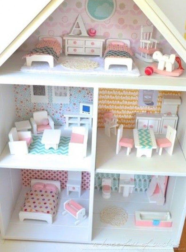 1:12th Navidad Estaño B Casa de muñecas en miniatura de accesorios