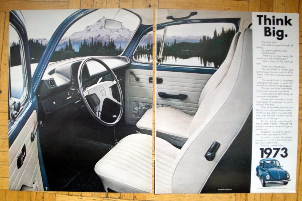 1973 Vw Super Beetle Interior Volkswagen Original 2 Page 13 5 Etsy Vw Super Beetle Vintage Volkswagen Volkswagen