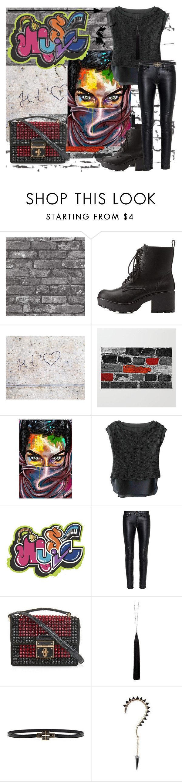 """""""Art In Other Forms."""" by stevie-wotton ❤ liked on Polyvore featuring Brewster Home Fashions, Charlotte Russe, Aime, J APOSTROPHE, Yves Saint Laurent, Dolce&Gabbana, Eddie Borgo and Tory Burch"""
