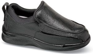 Biomechanical oxford from Apex. Comfortable orthopedic shoe- but doesn't look like it.