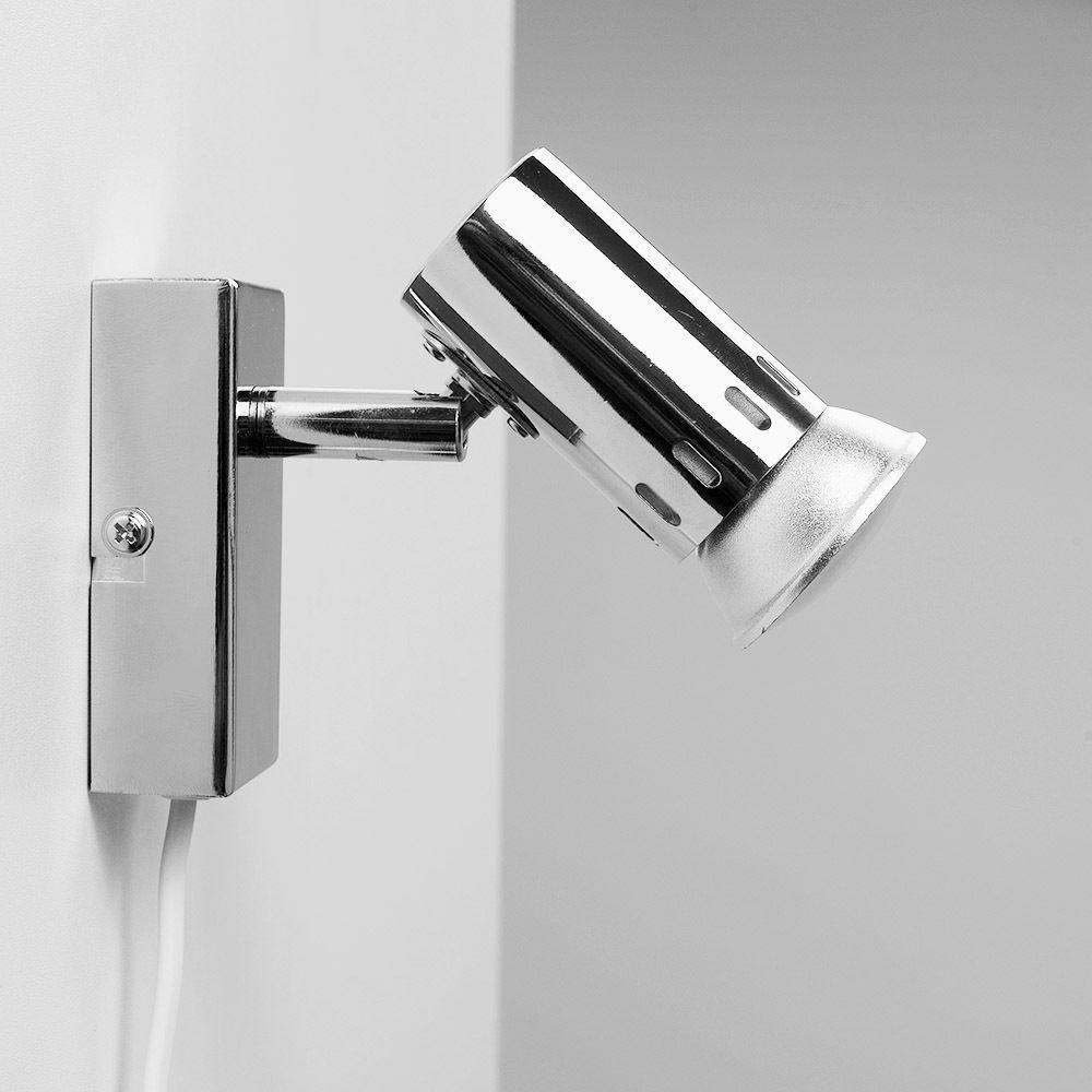 Plug In Easy Fit Chrome Indoor Wall Spot Light Spotlight ...
