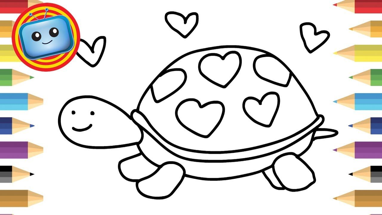 How To Draw A Turtle Colouring Book Simple Drawing Game For Kids Turtle Drawing Drawing Games For Kids Easy Drawings