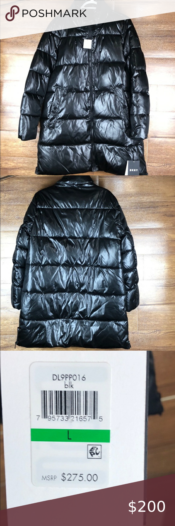 Dkny Long Puffer Jacket Size Large Dkny Womens Winter Puffer Coats Jackets [ 1740 x 580 Pixel ]
