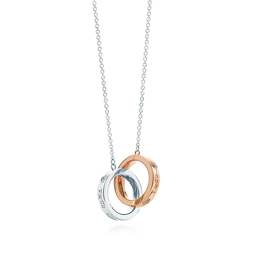 Tiffany 1837 interlocking circles pendant in sterling silver and 18k gold Tiffany & Co. SPP8YK1