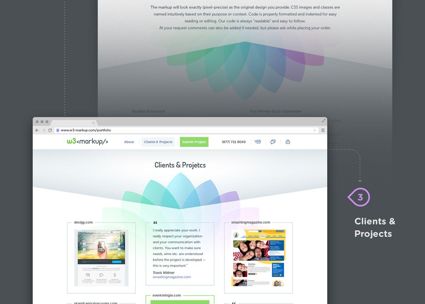 w3-markup.com on Behance
