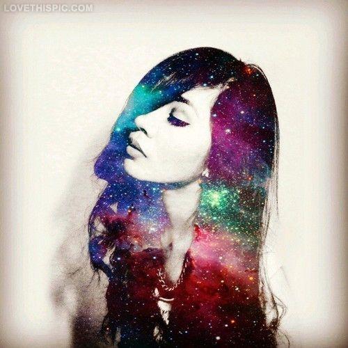 space hair fashion girly hair space cool artistic