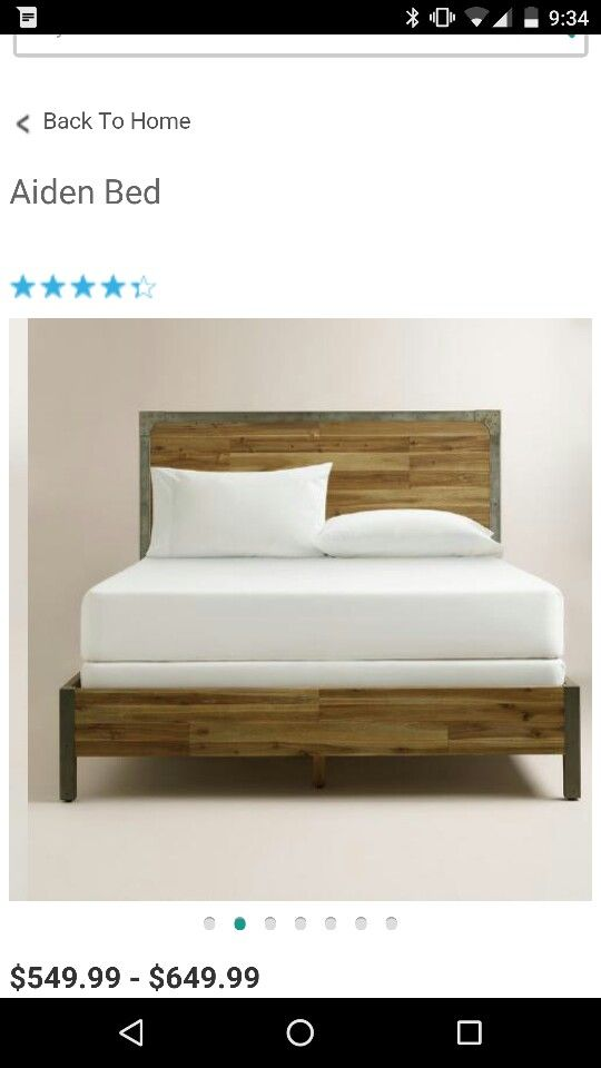 Love It Wood And Metal Cost Plus World Market Bed Bedroom