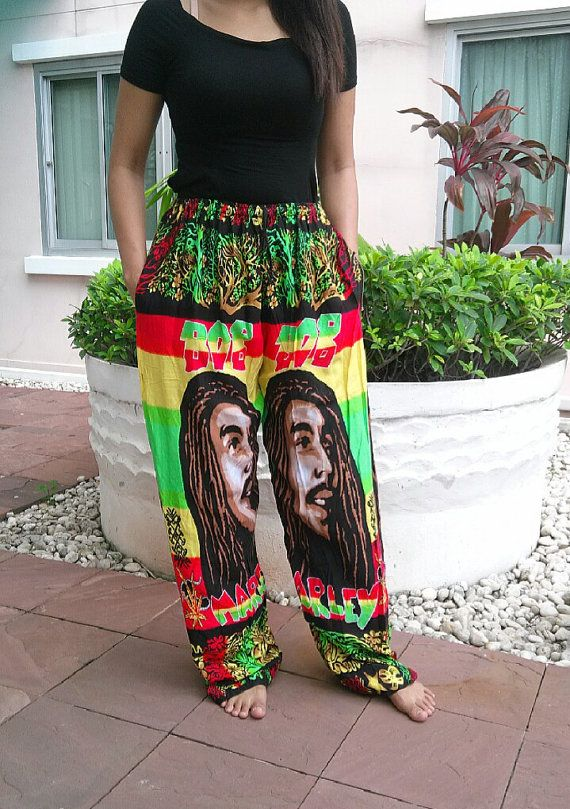 New #BobMarley Unisex Reggae Rasta #Yoga Pants Harem http://HempYogaPants.com