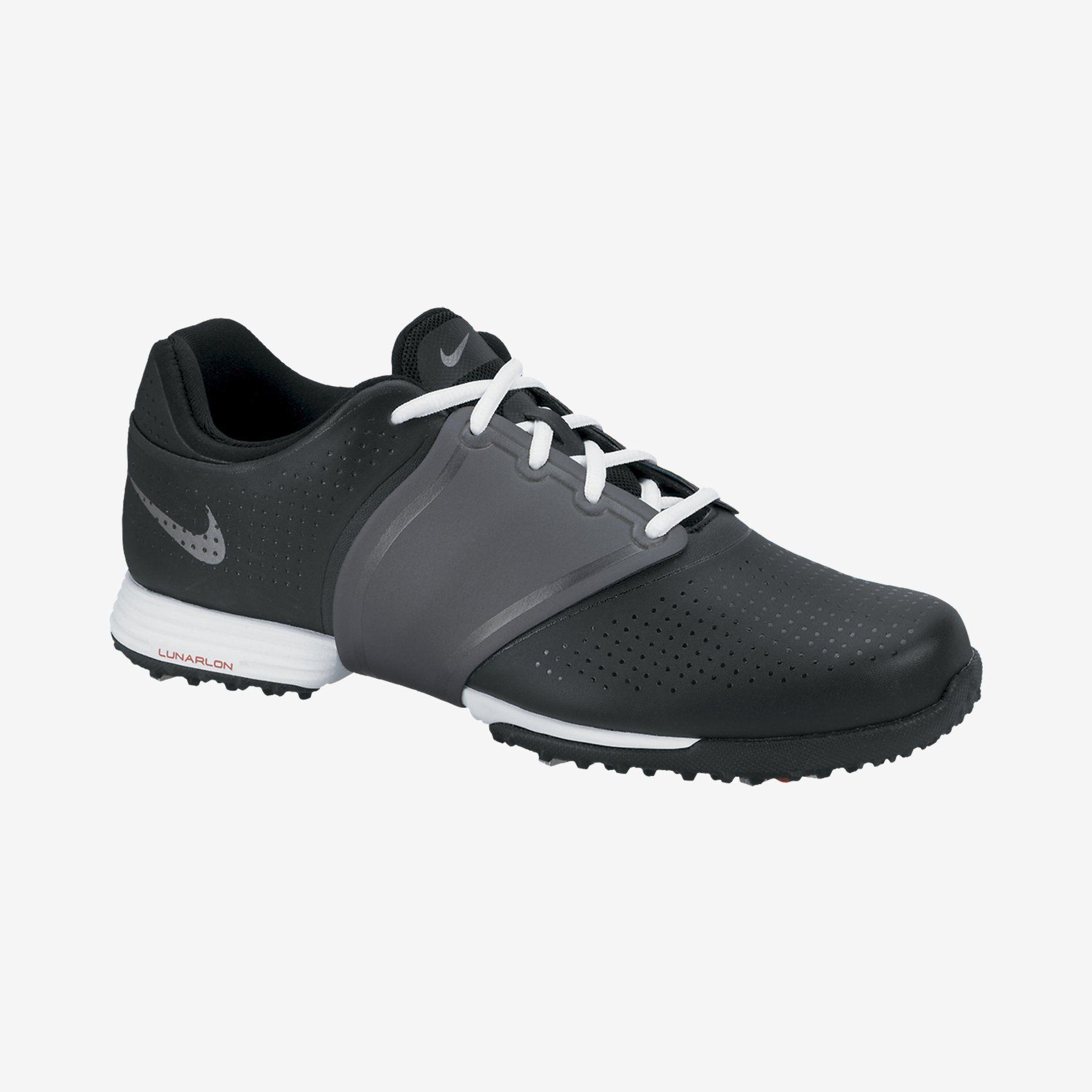 Womens Shoes Nike Golf Lunar Embellish Black/Metallic Cool Grey/White