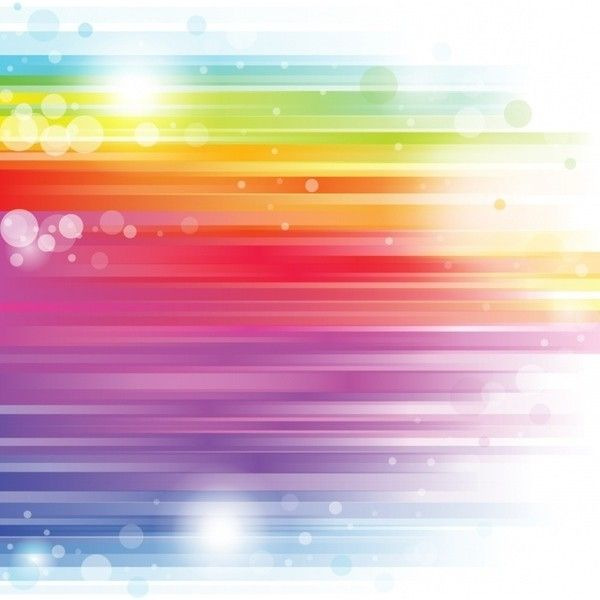 Abstract Rainbow Background Colorful Bokeh Decoration Free Vector