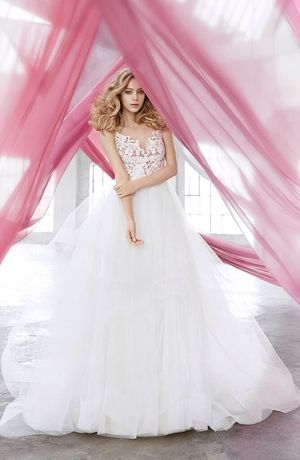 Blush By Hayley Paige V Neck Ball Gown In Lace Ball Gowns Wedding Ball Gown Wedding Dress Bridal Ball Gown,Mens Dress Vests Wedding