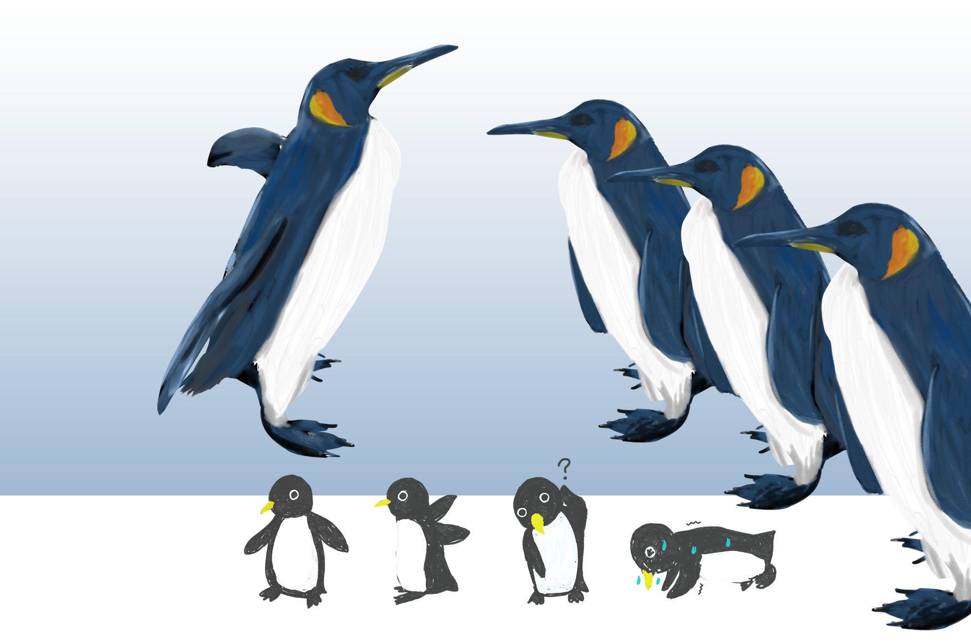 ペンギンイラスト:可愛いペンギンの無料イラスト素材!氷の上に