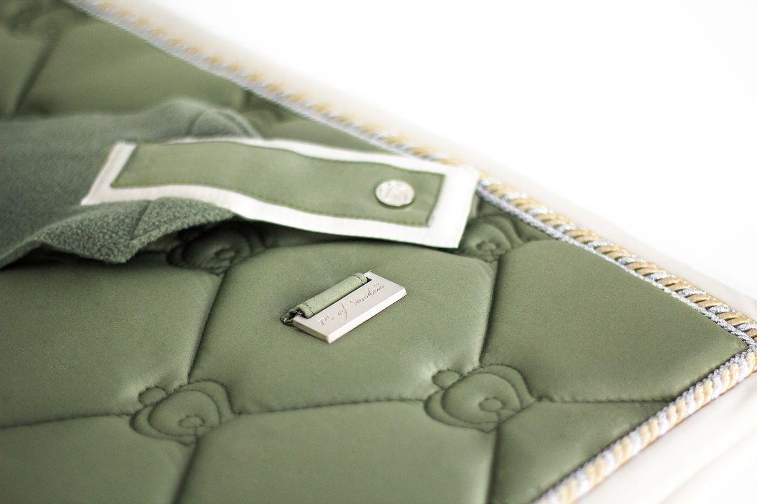 Schabracke Monogram Lichen Green Dressur Schabracke Dressur Schabracken