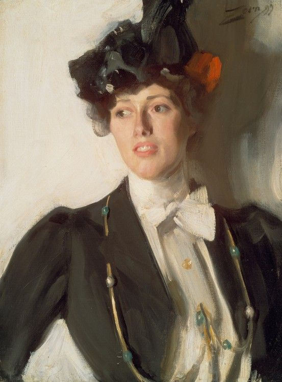 Martha Dana Later Mrs William Mercer 1899 Anders Zorn Swedish 1860 1920 Boston Museum Of Fine Arts C Museum Of Fine Arts Zorn Art Portrait Painting
