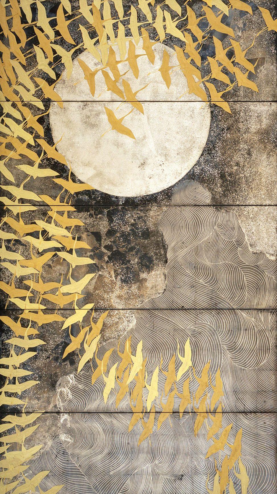 加山又造 千羽鶴 2020 アートのアイデア ペインティング 日本画