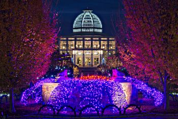 Conservatory at Dominion GardenFest of Lights lewis Ginter ...
