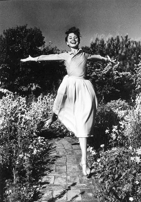 Jumping for Joy - We're in Love With These Rare Photos of Audrey Hepburn - Photos