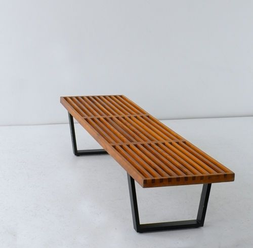 Wat Nelson Bench Bank Medium Ontwerperfabrikant George Nelson