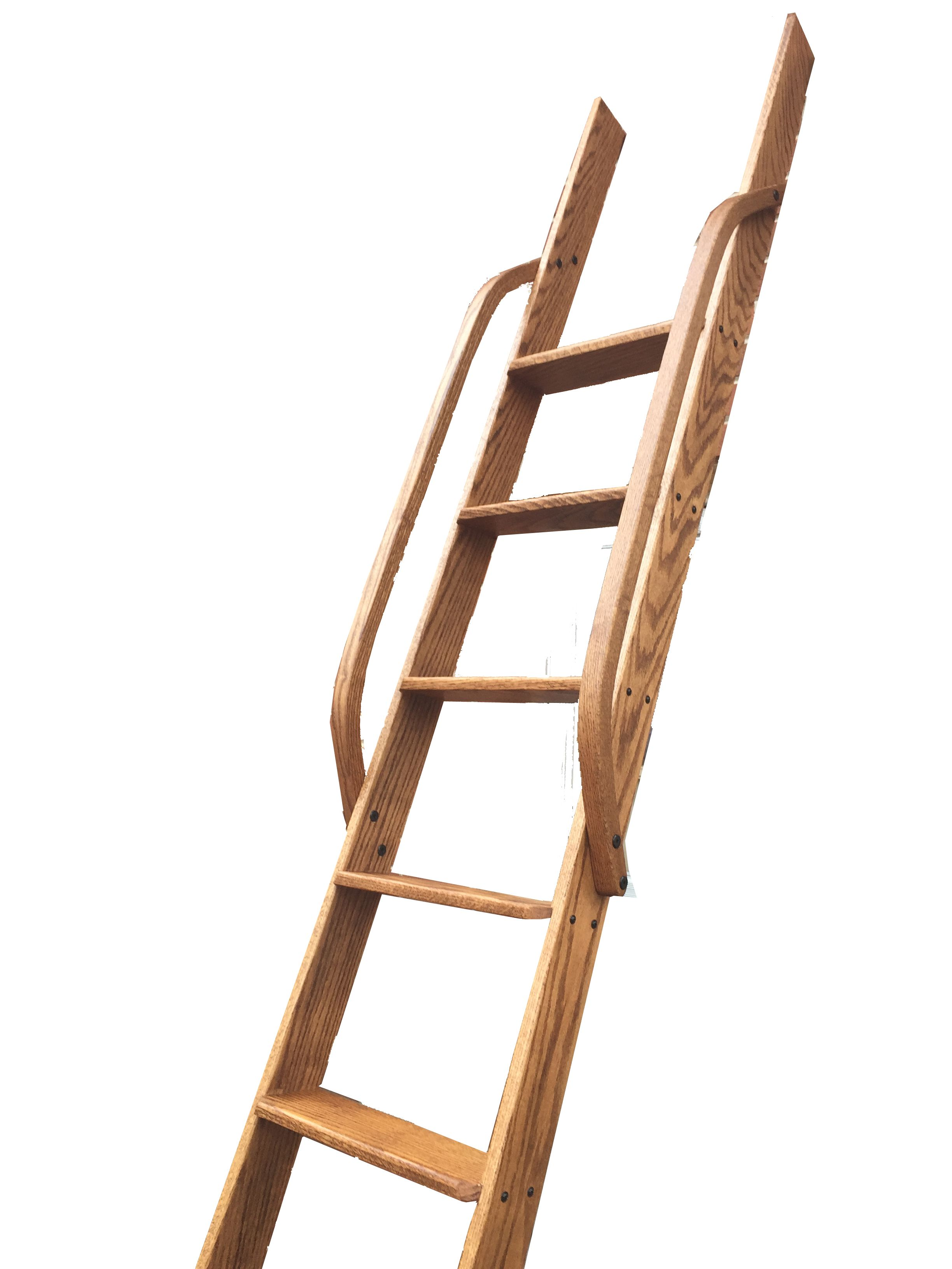 Wood Ladder Wooden Ladder Loft Ladder Interior Ladder Library Ladder Oak Stained Ladder Handmade Ladder Handcraf Wood Ladder Loft Ladder Library Ladder