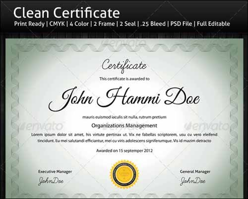 Best Most Popular Certificate Diploma Templates  Certificate