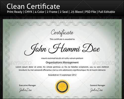 Best Most Popular Certificate Diploma Templates  Certificate