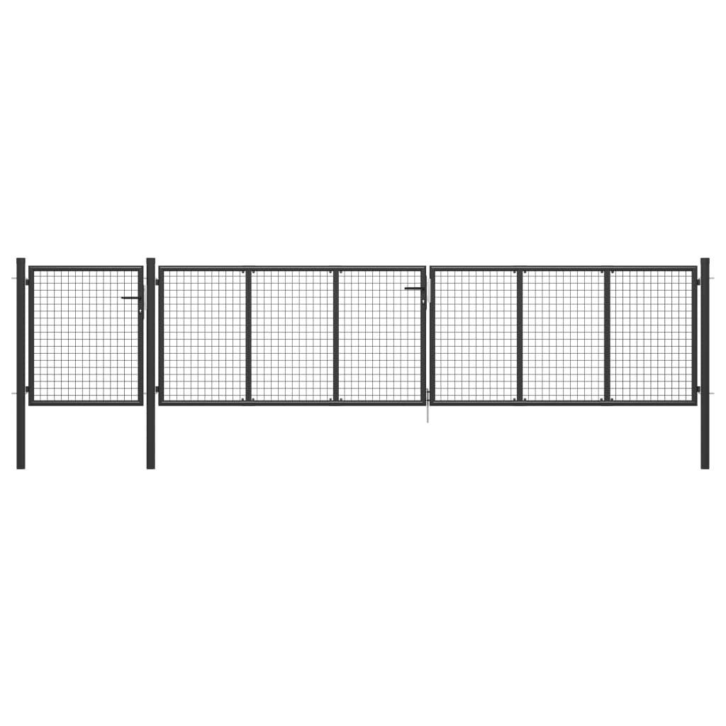 vidaXL Anthraki Garden Fence Door 500 x 75 cm. Steel