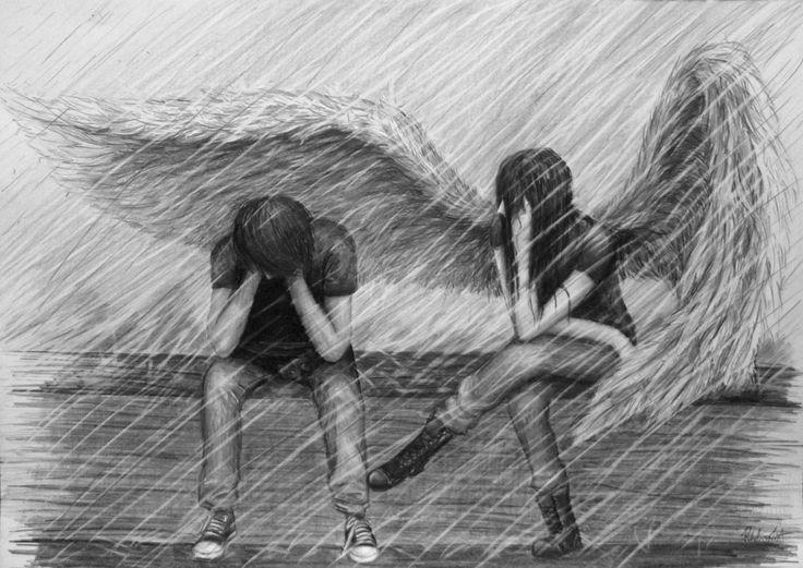 Sempre ao meu lado estando fraca ou no voc sempre arruma um child angel drawings in pencil bing images altavistaventures Choice Image