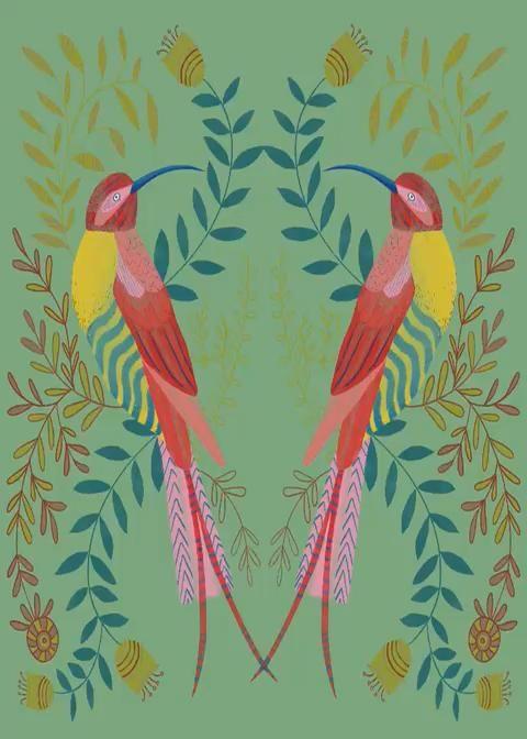 Timelapse video of my illustration of a pair of sunbirds using created on my iPad #sunbirdillustration #sunbirddrawing #ipadillustration #brightdecor #artforsale #artforinteriors #artforpubs #artforrestaurants #ipadillustrationinspiration