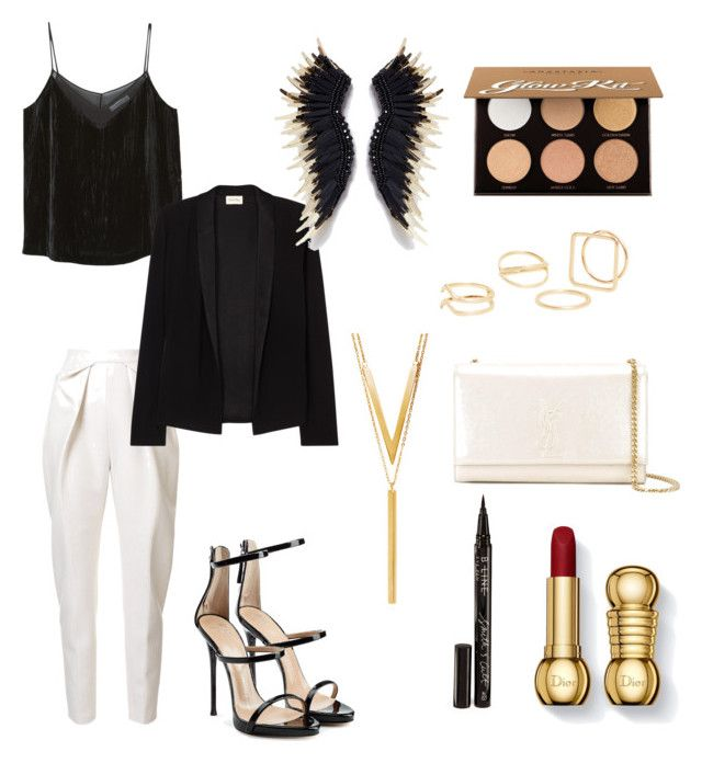 """""""Sin título #47"""" by esther-avayou on Polyvore featuring moda, MANGO, Delpozo, Giuseppe Zanotti, American Vintage, BERRICLE, Yves Saint Laurent, Smith & Cult y Anastasia Beverly Hills"""