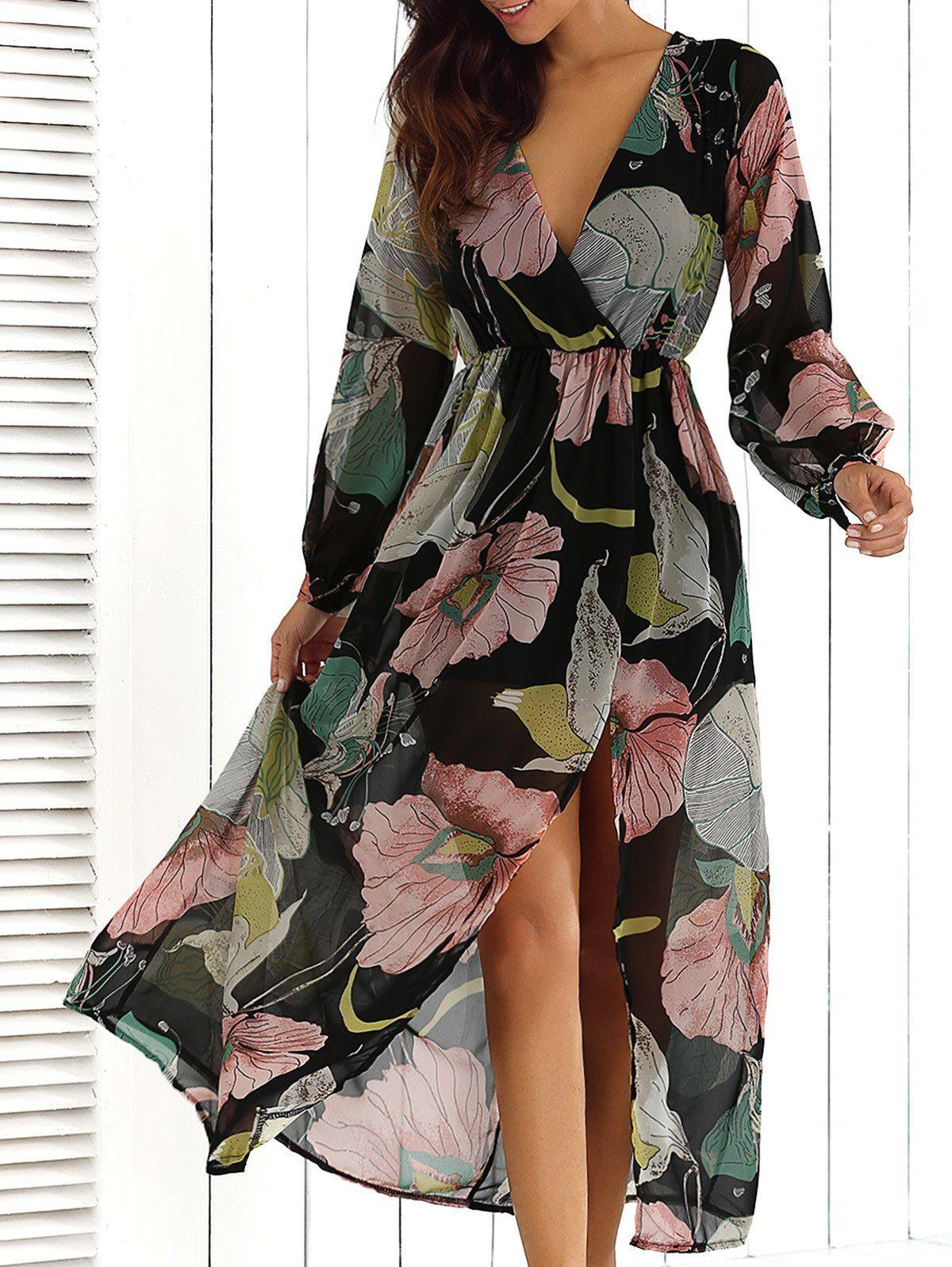 Tiendas de vestidos largos floreados