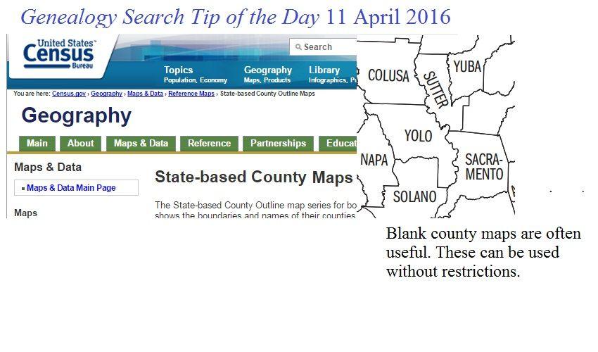 County Outline Maps | Michael John Neill\'s Genealogy Board ...