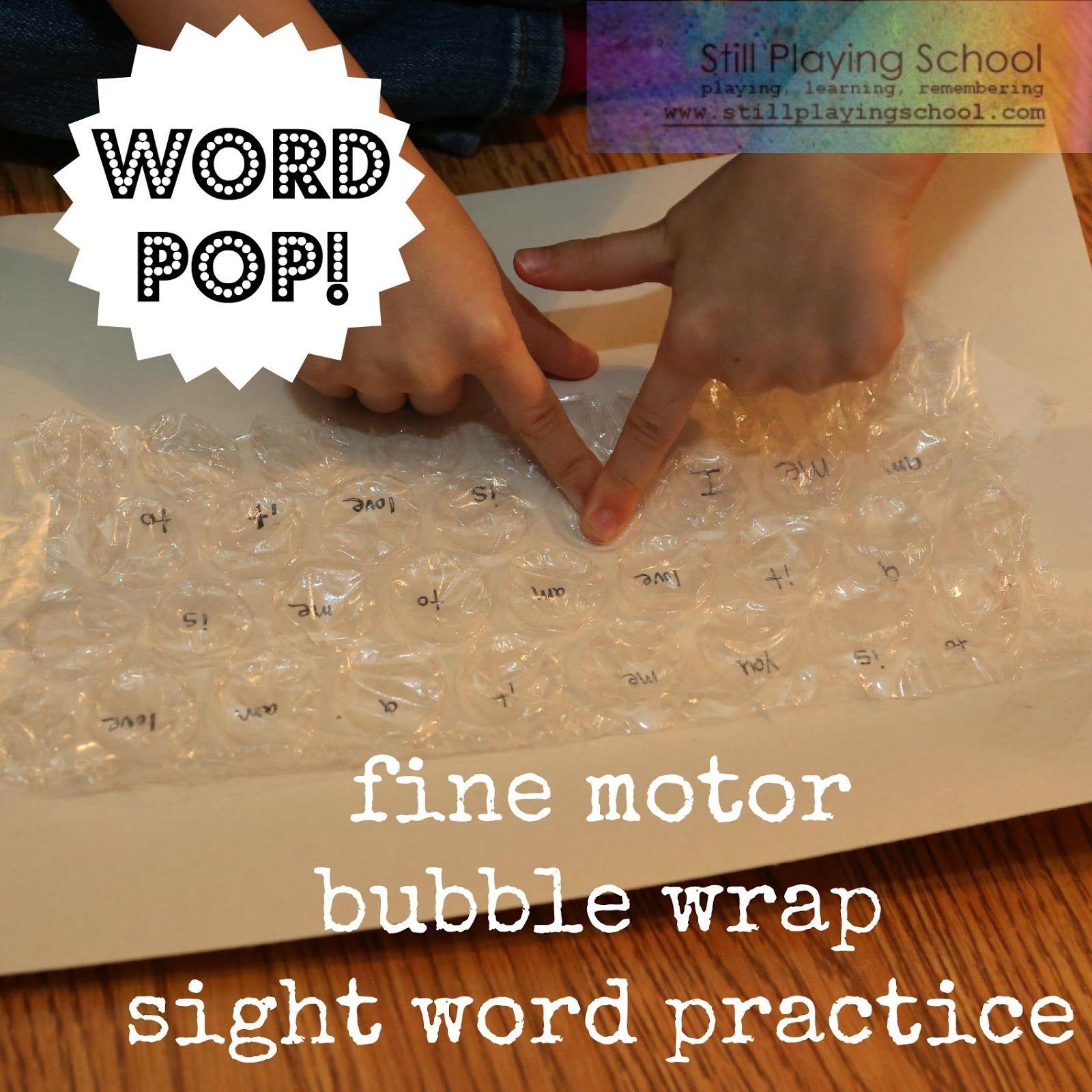 Word Pop! Bubble Wrap Sight Words Sight words, Bubbles
