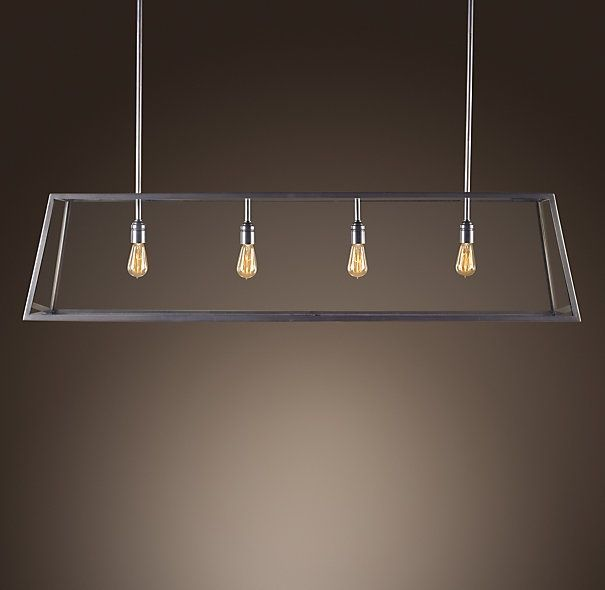 Restoration Hardware Kitchen Lighting: Modern Filament Chandelier