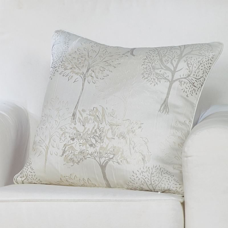 Mulberry Filled Cushion in Champagne