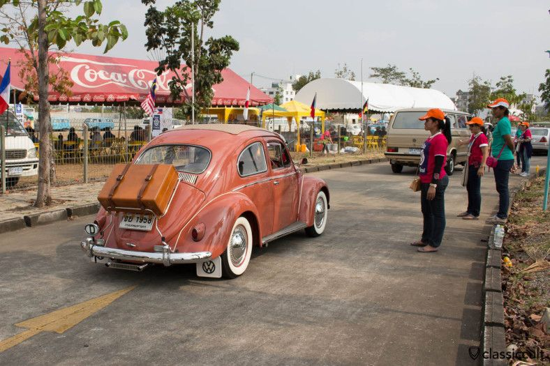 1958 VW Beetle with rare accessories http://www.classiccult.com/blog/siam-vw-festival-2014.html